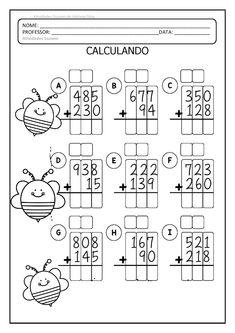 Adição e subtração EM PDF 3 ANO | Atividades Pedagogica Suzano Math Practice Worksheets, Addition And Subtraction Worksheets, Printable Math Worksheets, School Worksheets, Math Charts, English Lessons For Kids, Special Education Math, Third Grade Math, Math Practices