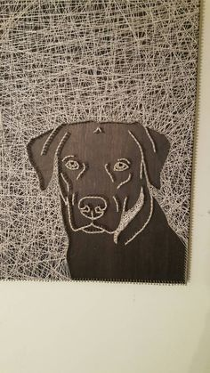 Check out this item in my Etsy shop https://www.etsy.com/listing/450232882/lab-face-string-art