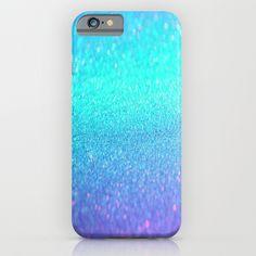 purple blue glitter iPhone & iPod Case
