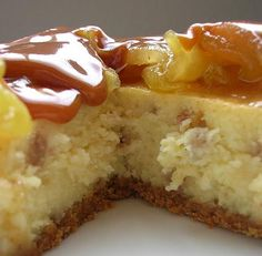 Caramel Apple Toffee Cheesecake