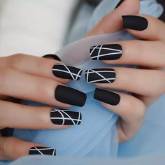 Best Acrylic Nails, Summer Acrylic Nails, Matte Nails, Black Acrylic Nails, Summer Nails, Best Nails, Black Coffin Nails, Nagellack Design, Nail Store