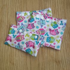 Owl Snack Bag - Reusable Snack Bag - School snack - Snack pouch - Fabric Owl Bag - Reusable lunch bag - 3 piece set - Gift - Party favor by Sewing4Babies on Etsy