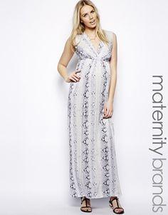 Isabella Oliver Snake Print Maxi Dress