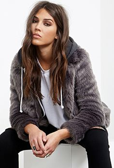 Collared Luxe Faux Fur Jacket | FOREVER21 - 2000100181