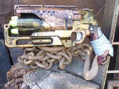 NERF zOMbiE sTRikE STEAMPUNK HAMMER Shot Gun Blaster 5 Streamline Darts on Etsy, £31.81