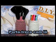 DIY - Porta-treco com lã   Luciana de Queiróz