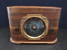 Vintage 1939 Climax Antique Art Deco Old Mid Century Depression Era Tube Radio | eBay