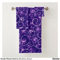 Purple Winter Swirl Bath Towel Set Bath Towel Sets, Bath Towels, Christmas Items, Holiday Outfits, Christmas Card Holders, Hand Sanitizer, Keep It Cleaner, Colorful Backgrounds, Holiday Cards