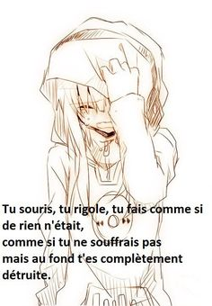 Welcøme in my Kingdøm. Sad Anime, Anime Triste, Manga Quotes, French Quotes, Bad Mood, Morals, Sad Quotes, Proverbs, Exactement