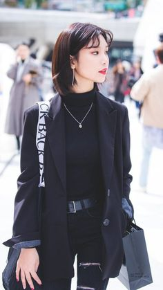 Kpop Outfits, Teen Fashion Outfits, Edgy Outfits, Korean Outfits, Girl Outfits, Cute Outfits, Ulzzang Fashion, Kpop Fashion, Girl Fashion