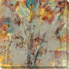 Both subtle and sophisticated, this oversized canvas art by Jane Bellows offers a graceful addition to your wall space. 'Wishful Thinking II' brings together neutral and bright hues in an abstract giclee print that will suit your contemporary decor.