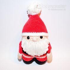 Amigurumi - crochet Santa Claus - free instructions - crochet pattern free of charge Crochet Santa, Free Crochet, Afghan Patterns, Crochet Patterns, Amigurumi Tutorial, Crochet Instructions, Textiles, Diy Doll, Amigurumi Doll