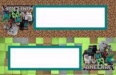 Fiesta de Minecraft: Etiquetas para Candy Buffet para Imprimir Gratis.