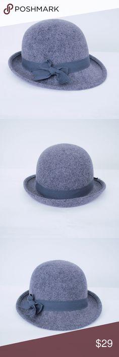 e18c40d8beb13 Goorin Bros Bowler Hat Wool Felt Bow Goorin Bros Womens Bowler Hat Gray  100% Wool