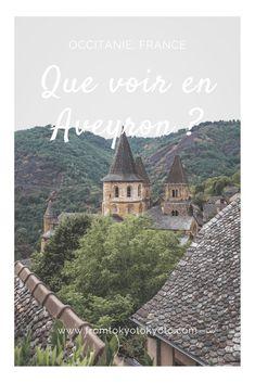 Vous souhaitez visiter l'Aveyron ? Savoir quoi voir et quoi faire ? Partez avec nous à la découverte des plus beaux endroits du département. #aveyron #occitanie #france in #VoyageEcrisEpingle Road Trip France, Beaux Villages, Go Outside, Travel Tips, Around The Worlds, Europe, Camping, Sweet, Lisbon