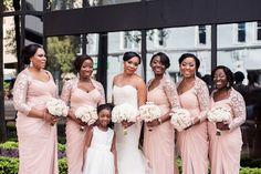 Munaluchi Bride Magazine- Pink Bridesmaid Dresses- Nigerian Wedding- Real Weddings