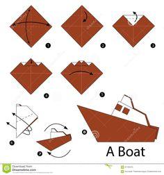Instructions étape-par-étape Comment Faire Le Bateau D'origami - Télécharger parmi plus de 58 Millions des photos, d'images, des vecteurs et . Inscrivez-vous GRATUITEMENT aujourd'hui. Image: 67135415