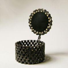 Too cool!    Recycled Bicycle Chain Box. $100.00, via Etsy.