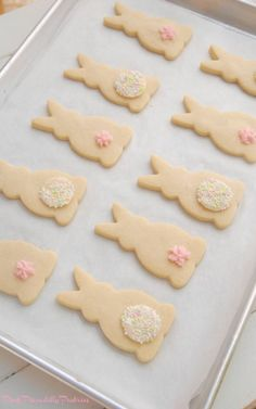 Pink Piccadilly Pastries - Simply Perfect Vanilla Shortbread Bunnies
