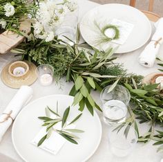 Moon Canyon Design. I love the idea of long garlands on rectangle tables