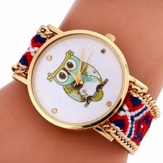 Best price on Quartz Bracelet Watch Owl Pattern Knitting Bracelet //    Price: $ 11.90  & Free Shipping Worldwide //    See details here: http://mrowlie.com/product/quartz-bracelet-watch-owl-pattern-knitting-bracelet/ //    #owl #owlnecklaces #owljewelry #owlwallstickers #owlstickers #owltoys #toys #owlcostumes #owlphone #phonecase #womanclothing #mensclothing #earrings #owlwatches #mrowlie #owlporcelain