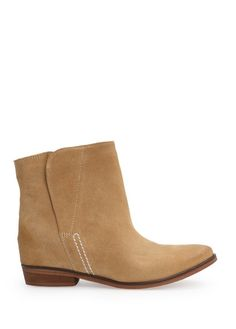 Concealed wedge suede ankle boots