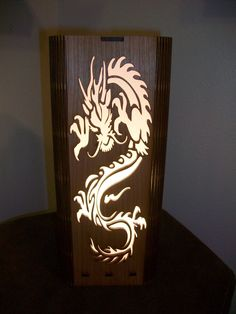 Good Dragon Lamp   Shoji Stye Lamp   Laser Cut. This One Is Made From A