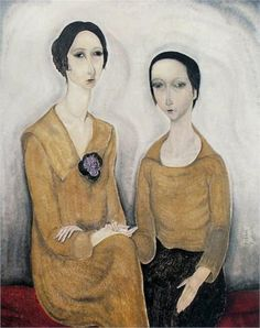 Two women  - Tsuguharu Foujita 1918
