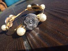 Wire shotgun shell bracelet by Spent Rounds Designs!!!! Shotgun Shell Jewelry | Bullet Jewelry | Ammo Jewelry
