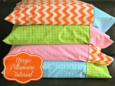 Magic Pillowcase Tutorial - Organize and Decorate Everything