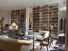 elegante Inneneinrichtung-Bibliothek