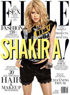 Shakira is ELLE Magazine (US) magazine's July 2013 cover star! ¡Shakira en la portada de la revista ELLE de Estados Unidos! ShakiraHQ
