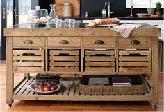 Love this kitchen island, though I probably can't afford Williams Sonoma's version.