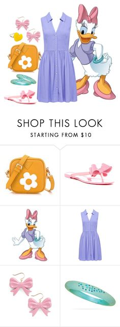 """""""Daisy Duck"""" by disneydazzle ❤ liked on Polyvore featuring BeiBaoBao, Dizzy, RoomMates Decor, Forever New, Swedish Hasbeens and BillyTheTree"""