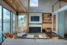 Tsunami House Fireplace, Designs Northwest Architects, H2K Design