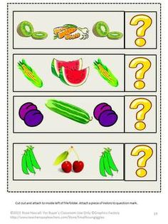 Life Skills Fruits Vegetables Identification File Folder Games ...