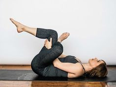 What if I told you that you only need eight minutes in your day to relieve back pain with yoga and this will not only improve your posture, but those eight Hip Opening Stretches, Hip Opening Yoga, Back Pain Exercises, Stretching Exercises, Outer Hip Stretches, Happy Baby Pose, Outer Thighs, Relieve Back Pain, Tight Hips