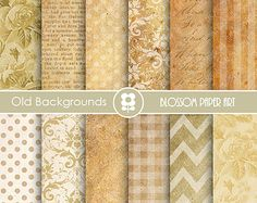 "Old paper digital paper pack: ""OLD PAPER PACK"" with vintage papers ..."