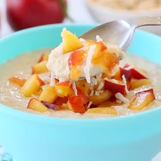 Fennel, Baby Food Recipes, Fruit Salad, Family Meals, Oatmeal, Spices, Peach, Tasty, Strong