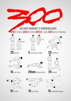 No equipment 300 workout. Train like a Spartan!