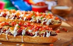 """Try these super easy to makeChorizo, Beans and Cheese Mexican Open-Faced Sandwiches (""""Molletes"""") with Pico de Gallo, perfect for any occasion!"""