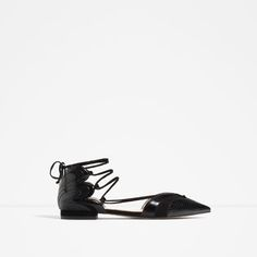 Image 1 of BALLERINAS WITH STRAPS from Zara