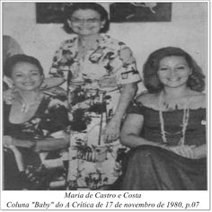 """Maria de Castro e Costa. Coluna """"Baby"""" do A Crítica de 17 de novembro de 1980."""