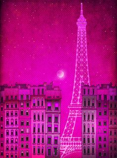 Paris in Pink.  How about Paris in every color seems right? Paris- I'm coming for you. Je suis vraiment!
