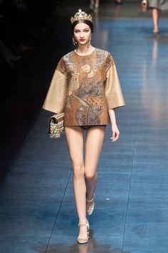 Dolce & Gabbana Fall 2013 runway #fashionweek
