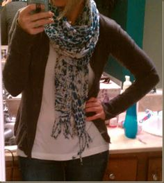 DIY Cardigan from a Long Sleeved T-Shirt