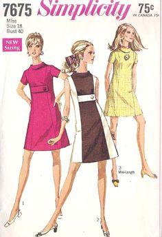Mod A Line Dress - for my Twiggy dress.