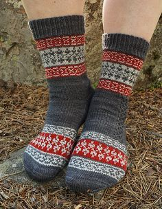 Echoes from Karelia sock pattern is a tribute to my mother's North Karelian… Crochet Socks, Knit Mittens, Knit Or Crochet, Knitting Socks, Hand Knitting, Knitted Hats, Wool Socks, Fair Isle Knitting, Knitting Accessories