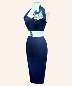 Blue 50's pin up dress - something I could see Joan Holloway in *wink*