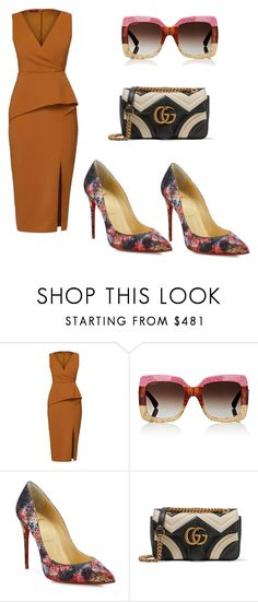 """Untitled #3738"" by loveparis7 ❤ liked on Polyvore featuring WtR, Gucci and Christian Louboutin"